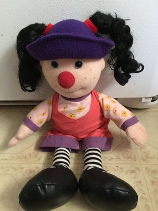 Big Comfy Couch Loonette The Clown,  And Molly Plush Dolls W/ 3 Dvds