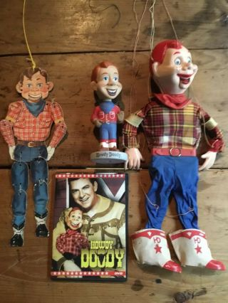 Vintage Howdy Doody Collectibles - Bobble - Head Marionette Dvd More Rare L@@k W@w