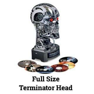 Terminator Full Size Arnold T800 Head 1:1 Dark Fate Dvd Blu - Ray Rare
