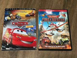 Disney Pixar Cars / Planes Fire & Rescue Dvd Set