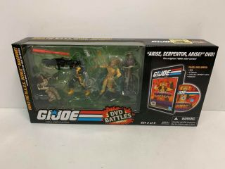 "Hasbro G.  I.  Joe Dvd Battles Arise,  Serpentor,  Arise 3.  75 "" Figure Set"
