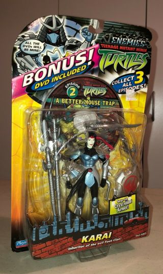 Teenage Mutant Ninja Turtles Karai Action Figure With Dvd