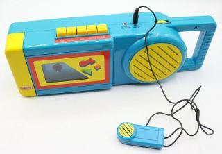 Vintage Cassette Player Recorder With Microphone Mike Nasta Brand Toy