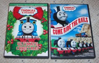 Thomas Tank Engine & Friends Ultimate Christmas & Come Ride The Rails Train Dvd
