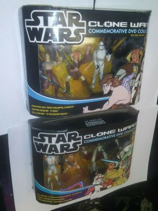 Star Wars Clone Wars Commemorative Dvd 3 - Pack 1 & 2 Hasbro 2005 Wal - Mart Excl.