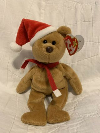 Ty Beanie Baby 1997 Holiday Teddy Bear Rare With Multiple Errors Style 4200