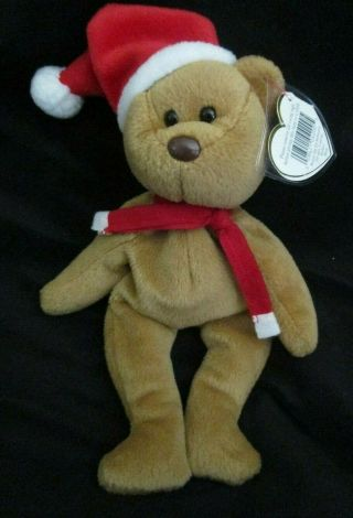 Ty Beanie Baby 1997 Holiday Teddy Bear Style 4200 Dob 12 - 25 - 96 Mwt