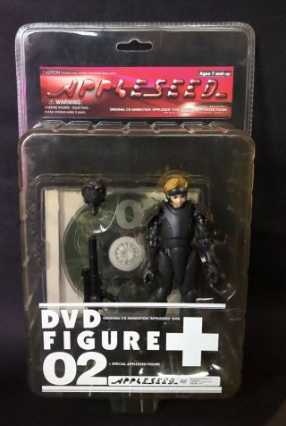 2002 Appleseed Dvd Figure - 02 Deunan Knute Masamune Shirow Yamato Japan Moc