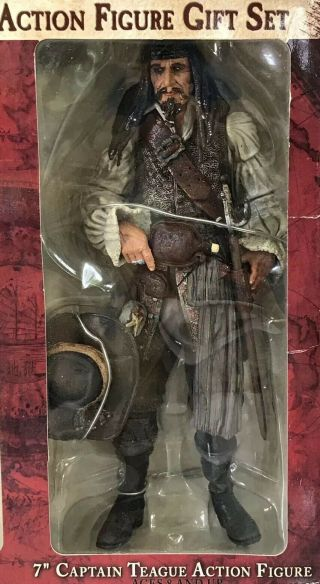 "Neca Pirates Caribbean Captain Teague 7 "" Figure From Dvd Gift Set At Worlds End"