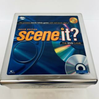 Scene It? Movie Edition The Dvd Game Tin Holder