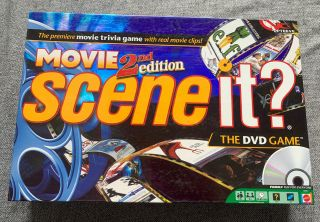 Scene It? Movie 2nd Edition Dvd Family Board Game - 100 Complete