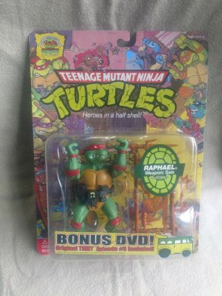 Teenage Mutant Ninja Turtles Tmnt 25th Anniversary Raphael Figure W/bonus Dvd