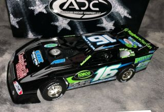 2008 Adc 1/24 Dirt Late Model 16 Justin Rattliff Rare 1 Of 250 (3794)