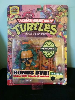 Teenage Mutant Ninja Turtles 25th Anniversary Michelangelo With Bonus Dvd Toy