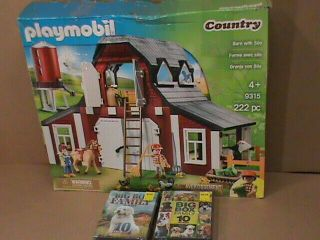 Playmobil Country Barn With Silo 9315 Plus Family Movie Dvds