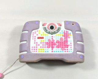 Fisher Price Digital 4x Zoom Photo & Video Camera Purple Kid Tough See Yourself
