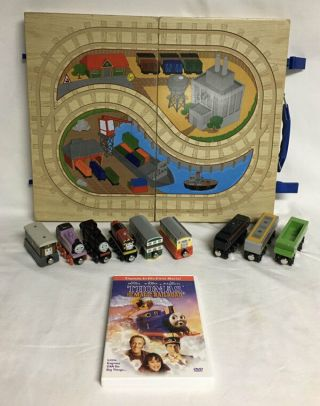 Thomas The Tank Engine Wooden Trains Flora Neville Salty Play Go Carry Case Dvd
