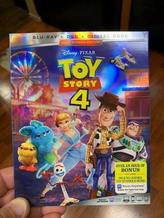 - Disney Pixar Toy Story 4 (blu - Ray,  Dvd - No Digital) W/slipcover
