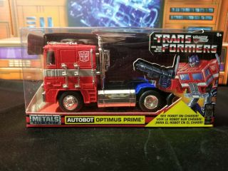 Hollywood Rides Jada Toys Die Cast G1 Optimus Prime Misb