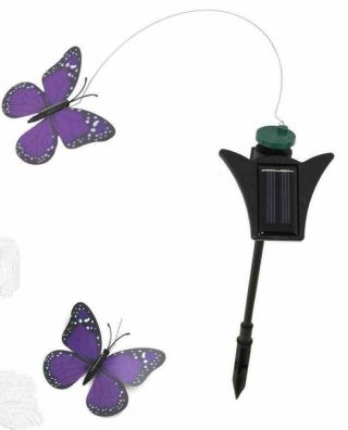 Urban Decorative Solar Fluttering Garden Ornament - Blue Butterfly