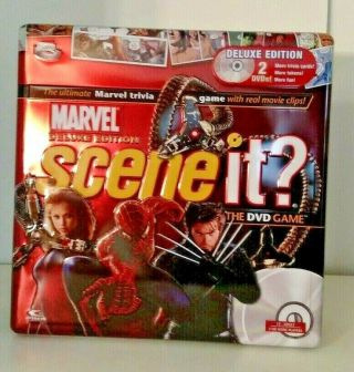 Scene It? Marvel Deluxe Edition Dvd Game Collectors - Tin Case