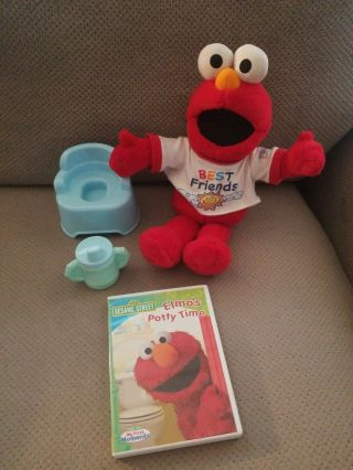 Fisher - Price Sesame Street Potty Time Elmo Talking Toy,  Cup,  Potty And Dvd