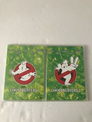 Ghostbusters One And Ghostbusters Two Dvds Columbia Pictures Rates Pg