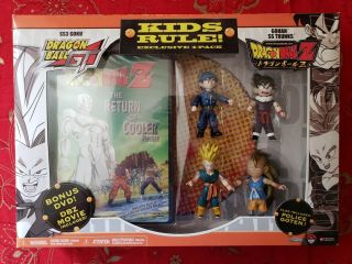 Dragon Ball Gt Kids Rule 4 - Pack 2006 Bird Jakks W/dvd Police Goten Goku
