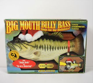 Gemmy Industries Big Mouth Billy Bass Singing Christmas Holiday Plaque
