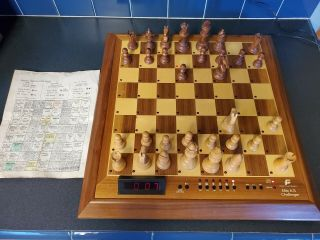 Vintage Rare Fidelity Elite A/s Challenger Electronic Chess.  Circa 1983