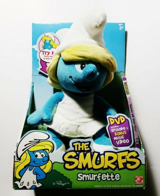 "The Smurfs - Smurfette 10 "" Talking Plush,  Dvd (jakks Pacific,  2008)"