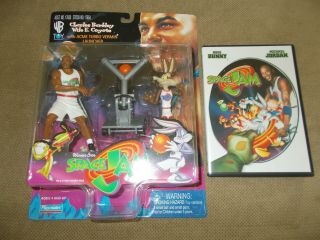 Space Jam Figure Charles Barkley Wile E.  Coyote With Space Jam Dvd
