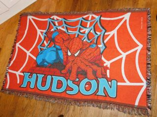 Spiderman Rug - Personalized With Name Hudson 52x35