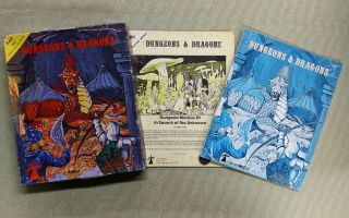 Tsr Dungeons & Dragons Vintage Old School Edition 1978 Box Set,