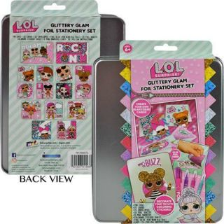 L.  O.  L Surprise Glittery Glam Foil Stationery Set Authentic Licensed Product