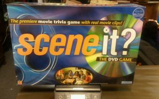 Scene It? The Dvd Game By Mattel Games 2003 W/ Real Movie Clips Euc Complete