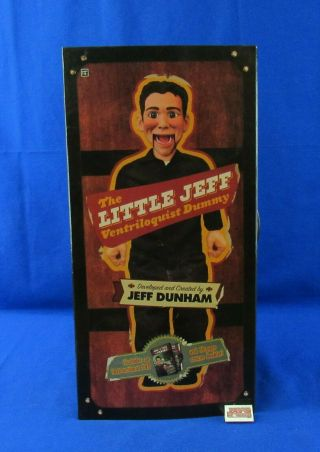 Neca Jeff Dunham Little Jeff Ventriloquist Dummy W/dvd And Signed Picture