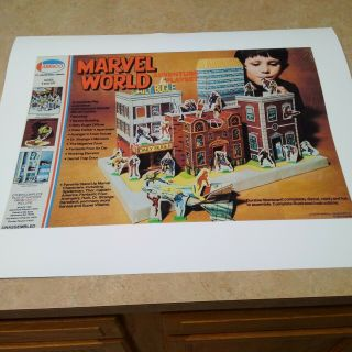 Amsco Marvel World Adventure Playset Replacement Box Lid And Base Graphics