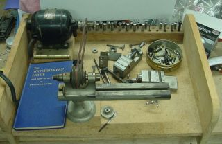 Rs Vintage American Watch & Tool Co.  Watchmakers Lathe W/ X - Y Slide Table & More