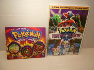 1999 Pokemon Battling Coin Game Golem Ponytd Moltres Coins Vintage 2 Coin Dvd
