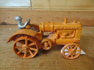 1/16 Allis Chalmers Cast Iron Vintage Tractor Steel Wheels With Farmer