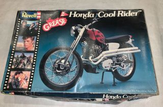 Vintage Revell 1/8 Grease 2 Honda Cool Rider Motorcycle Model Kit 100 Complete