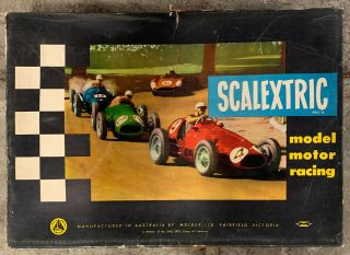 Scalextric Tri - Ang Vintage Early Slot Car Lotus Racing Set Made In Australia