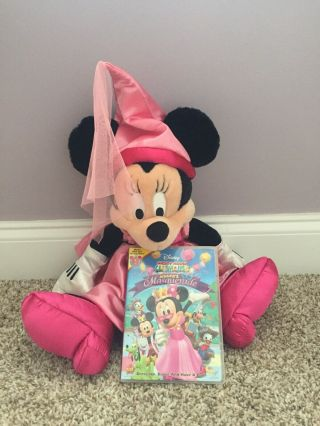 "Minnie Mouse Princess 21 "" Plush Doll,  Pink Satin Dress And Princess Hat Plus Dvd"