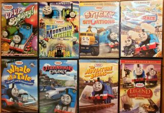 8 Thomas The Train Trackmaster Dvds Blue Mountain Mystery Movie Shorts