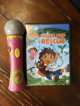 Mattel Dora The Explorer Songs & Tunes Microphone Musical Toy And Nick Jr.  Dvd