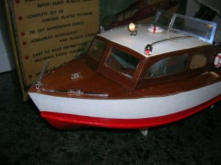 Toy Wood Boat With Box Ito K&o Battery Operated Boat By Craft Masters