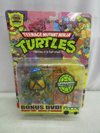 2008 Playmates Tmnt 25th Anniversary Leonardo With Bonus Dvd