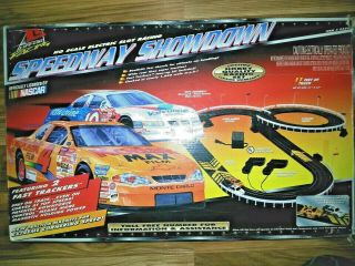 H.  O.  Scale Racing Set Slot Cars Vintage Electronic Nascar Games Memorabilia Toys