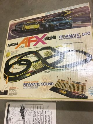 Aurora Afc Revmatic 500 With Revmatic Sound Electronic Ho Scale Racing Set